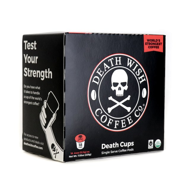 Death Wish Coffee K-cups land at Walmart on June 9. (Courtesy of the company)
