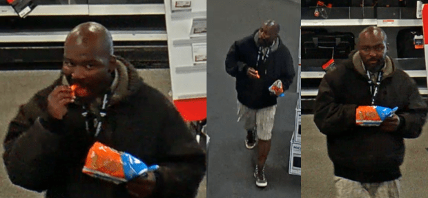Officials are looking for this man who they say punched another man and then took his cellphone in a West Hollywood Best Buy. (Courtesy)