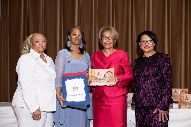Marsha Chapman, Charlene Fontenot, Roberta Jenkins and Carolyn Caldwell at the NCNW event.