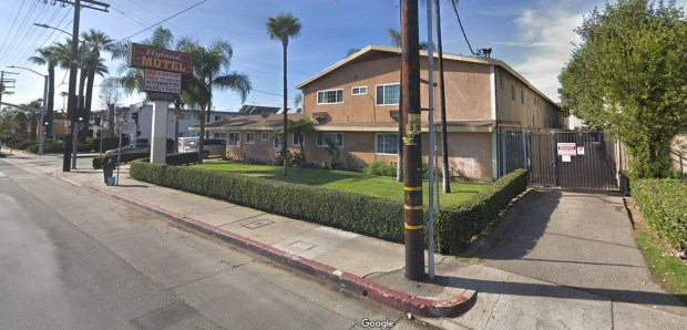 The LA City Attorney's Office is suing the owners of the Hyland Motel on Sepulveda Boulevard in Van Nuys, alleging that drugs are routinely sold on the property, which is also allegedly home to prostitutes and pimps. (Google Street View)