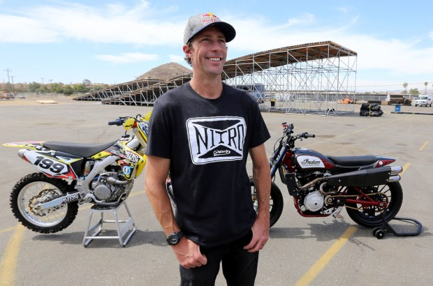 X Games legend Travis Pastrana is getting ready to recreate three of daredevil icon Evel Knievel's most memorable stunts. (Photo by Frank Bellino, Contributing Photographer)