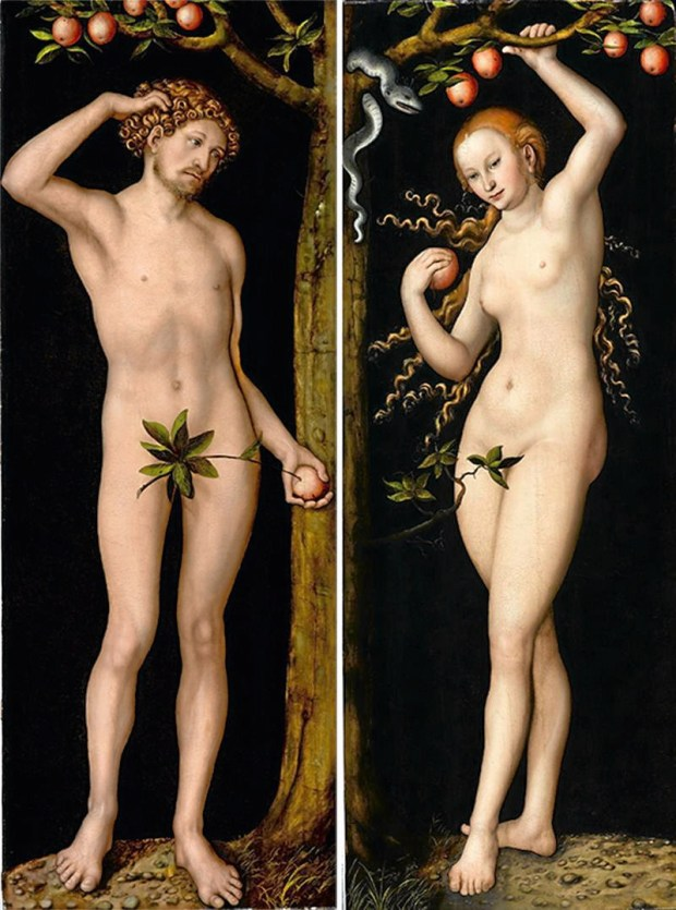 """Adam"" and ""Eve"" by Lucas Cranach the Elder. The painting hangs in the Norton Simon Museum in Pasadena. (Courtesy photo)"