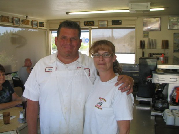 Holland Burger Café owners Brian and Shawna Gentry (Photo by Trevor Summons)