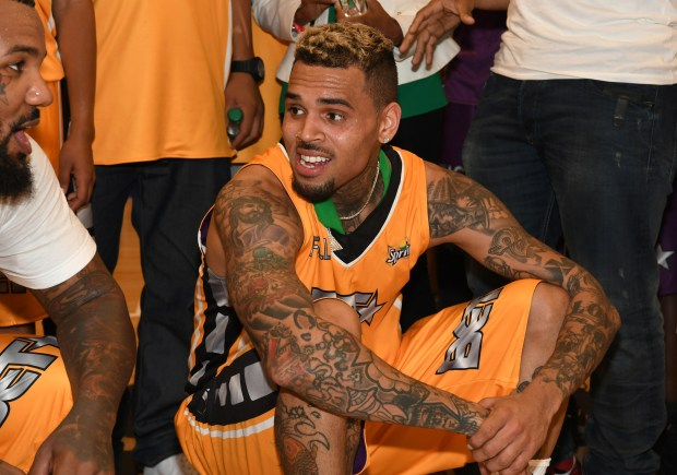 LOS ANGELES, CA - JUNE 24: Chris Brown at the Celebrity Basketball Game, presented by Sprite and State Farm, during the 2017 BET Experience, at Los Angeles Convention Center on June 24, 2017 in Los Angeles, California. (Photo by Paras Griffin/Getty Images for BET)
