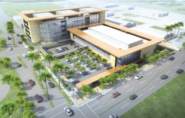 An artist's rendering of the John J. Benoit Detention Center under construction in Indio (Courtesy of Riverside County).