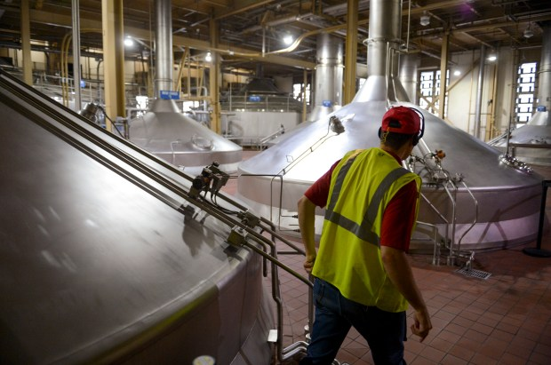 "In the ""hot room"" at Anheuser-Busch in Van Nuys. For the first time in almost 40 years, the brewery will open its doors to the public for a select number of tours this summer. Contact budweisertours.com to details. (Photo by David Crane, Los Angeles Daily News/SCNG)"