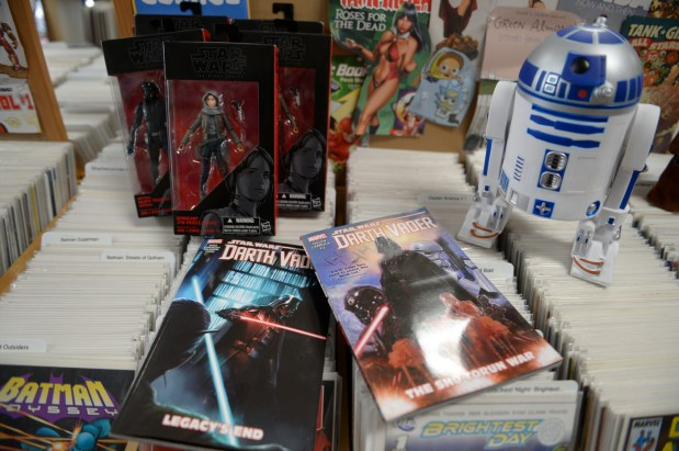 "New Star Wars items which are coming out with the release of the latest Star Wars movie ""Solo"". ( Photo by David Crane, Los Angeles Daily News/SCNG)"