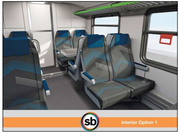 Designs for Arrow route trains will be previewed at the San Bernardino County Transportation Authority's meeting on May 10, 2018. The route will run from downtown San Bernardino to Redlands when it is completed. (Courtesy of San Bernardino County Transportation Authority)