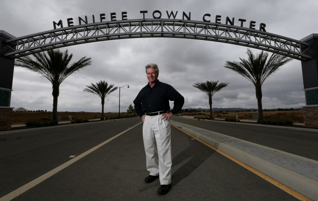 Menifee Mayor Neil Winter, shown at the Menifee Town Center in 2017, died late Saturday, May 19, the city said in a news release Sunday, May 20. (File photo by Frank Bellino, The Press-Enterprise/SCNG)