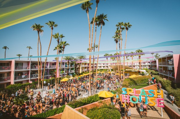 Splash House, a pool party EDM music festival, returns to the pools of the Riviera, Saguaro and Renaissance hotels in Palm Springs June 8-10. (Courtesy of Splash House)