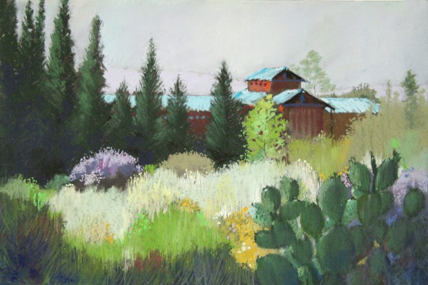 """View from Beverly's Garden"" is a a work of art by Riverside artist Ada Passaro, 93.(Photo courtesy of Ada Passaro)"