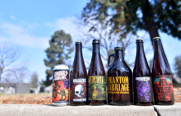 A beer fest is coming to Long Beach's Sunnyside Cemetery June 30. Organized by Phantom Carriage Brewing, the event is called Festival Obscura Presents: A Celebration at Sunnyside Cemetery, and it's a fundraiser for the historic cemetery. Organizers brought a few of their beverages to the cemetery in Long Beach on Thursday, June 7, 2018. (Photo by Brittany Murray, Press Telegram/SCNG)