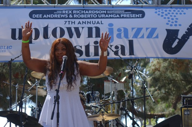 Elaine Gibbs & Nu Soul perform at the Seventh annual Uptown Jazz Festival on Saturday, June 9, 2018 at Houghton Park. (PHOTO: GERONIMO QUITORIANO)