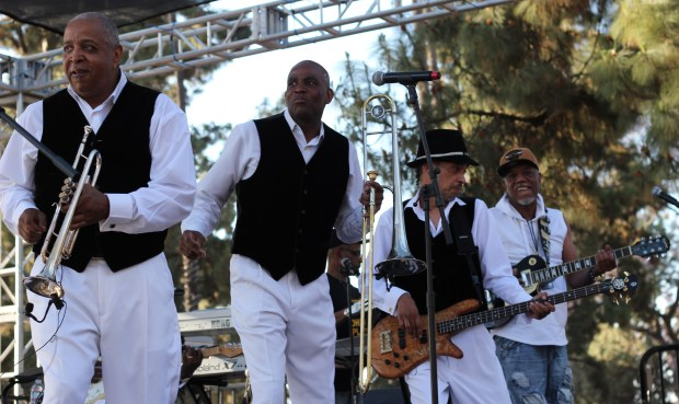 The Ohio Players perform at Saturday's Uptown Jazz Festival in Long Beach. Photo: Kat Schuster