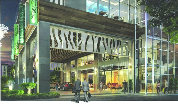 A rendering of the proposed new Hotel Legado at 1700 S. PCH in Redondo Beach shows the new repositioned entrance.