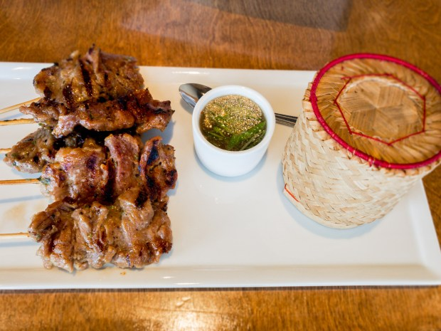 Moo ping, or pork shoulder marinated in honey, at Silk Thai in Huntington Beach. (Photo by Brad A. Johnson, Orange County Register/SCNG)