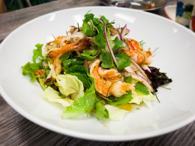 Shrimp salad known as phla goong, served at Street Thai in Huntington Beach. (Photo by Brad A. Johnson, Orange County Register/SCNG)