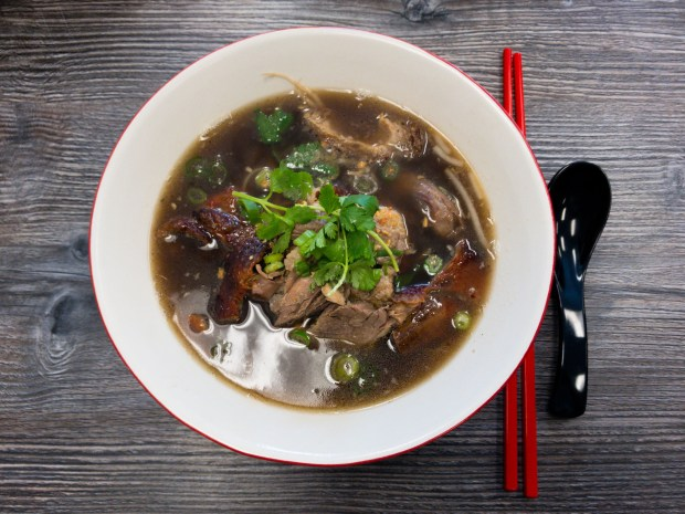 Bangkok Chinatown style duck noodle soup at Street Thai in Huntington Beach. (Photo by Brad A. Johnson, Orange County Register/SCNG)