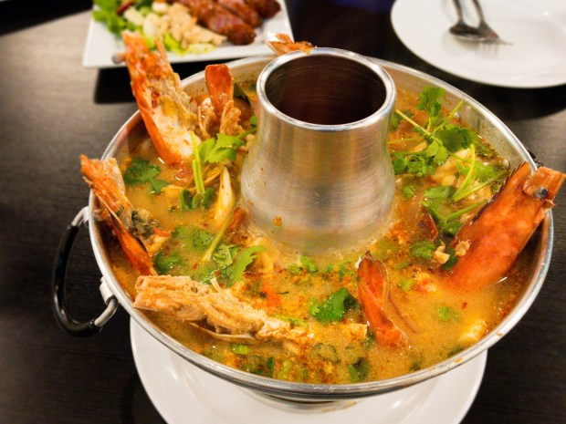 Tom yum koong at Thai Avenue in Garden Grove. (Photo by Brad A. Johnson, Orange County Register/SCNG)