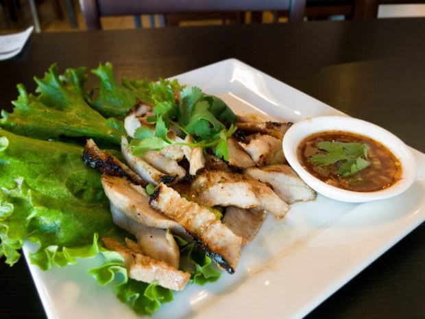 Kor moo yang, or grilled pork neck, at Thai Avenue in Garden Grove. (Photo by Brad A. Johnson, Orange County Register/SCNG)