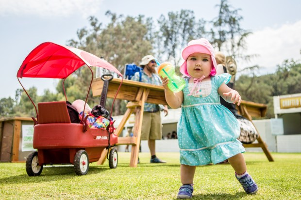 1-year-old Lillian Holzberg, of Ventura, attended her first music festival at Arroyo Seco Weekend at Brookside Golf Course in Pasadena, Calif. on Saturday, June 24, 2017. (Photo by Watchara Phomicinda, The Press-Enterprise/SCNG)