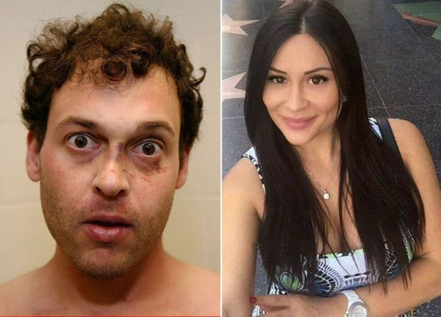 Blake Leibel, a comic book artist and son of a Canadian real-estate tycoon, seen at left in an LA County Sheriff's Department booking mug, was sentenced Tuesday, June 26, 2018, to life in prison without the possibility of parole, for the murder of girlfriend Iana Kasian, seen at right in an image from Facebook. Leibel drained all of the blood in Kasian's body, mirroring the script of a graphic novel he co-wrote, prosecuters said.