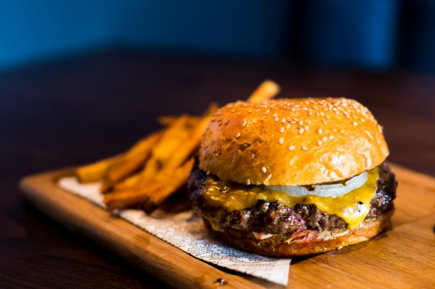 The cheeseburger at The Mayor's Table at the Lido House Hotel is a study in simplicity. (Photo by Brad A. Johnson, Orange County Register/SCNG)