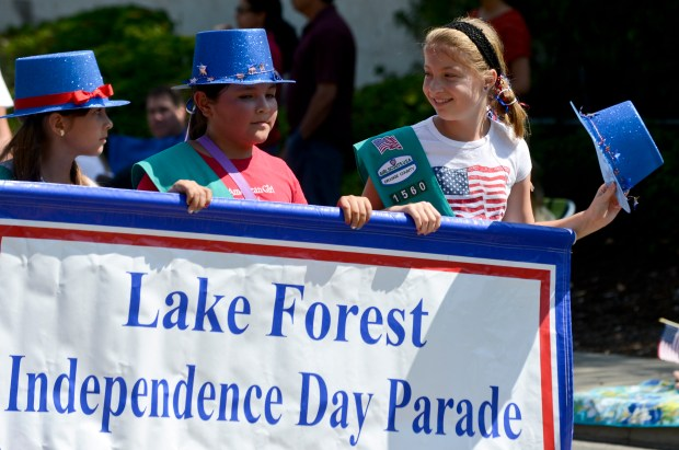 Lake Forest's annual July 4 parade starts at 10 a.m. this year. (Register file photo)