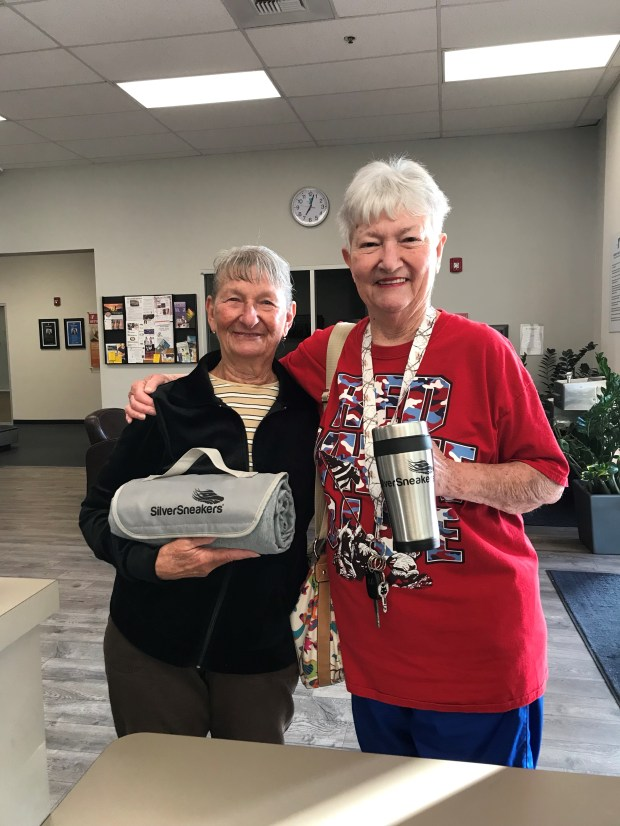 Guests such as Teresa Reed and Mary Key visited the Murrieta Family YMCA on May 30 to celebrate the 25th anniversary of National Senior Health and Fitness Day.(Photo courtesy of Murrieta Family YMCA)