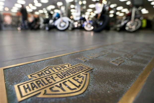 Harley-Davidson, facing rising costs from new tariffs, will begin shifting the production of motorcycles heading for Europe from the U.S. to factories overseas. (AP Photo/Keith Srakocic, File)