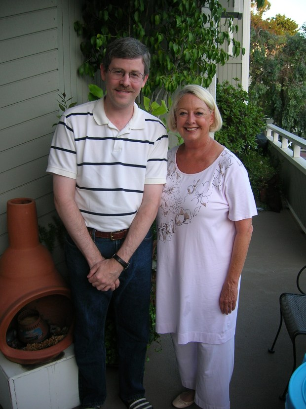 "Steve Gish with Amy Biehl's mother, Linda Biehl. Gish wrote the book ""Amy Biehl's Last Home,"" which was released June 11."