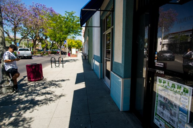 A vacant store front in the 188 block of North 2nd Avenue in downtown Upland on Wednesday, June 27, 2018. The city of Upland is planning to open a police annex so officers can meet with merchants and address crime issues. (Photo by Watchara Phomicinda, The Press-Enterprise/SCNG)