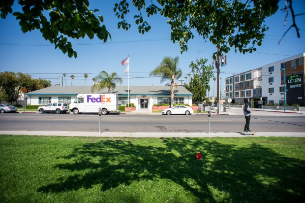 Supervisor Sheila Kuehl is proposing that the parking lot at 5300 Tujunga Avenue in North Hollywood, a County of Los Angeles Public Health building, be used for Safe Parking LA as an overnight parking area for people living in their vehicles. The public health building at 5205 Melrose Avenue in Hollywood is also being proposed to combat homelessness with the safe parking program. (Photo by Sarah Reingewirtz, Pasadena Star-News/SCNG)