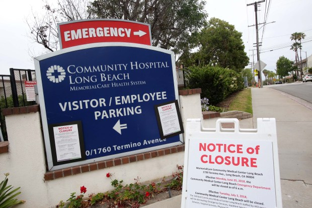 June 25, 2018-Photo by Tracey Roman/for the Press-Telegram. Long Beach Community hospital has closed its doors to the emergency room Monday morning.