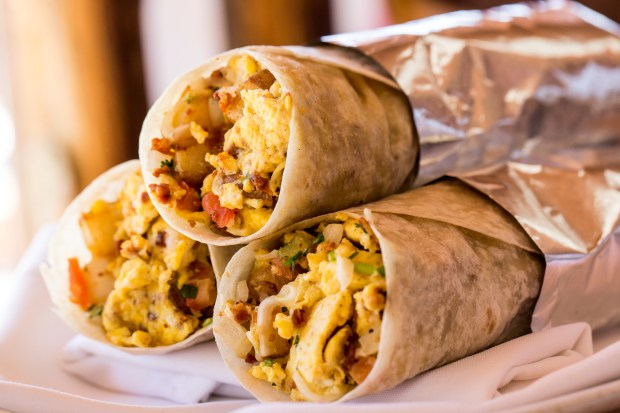 El Torito and Acapulco restaurants will serve breakfast burritos during World Cup watch parties. (Photo courtesy of Real Mex Restaurants).