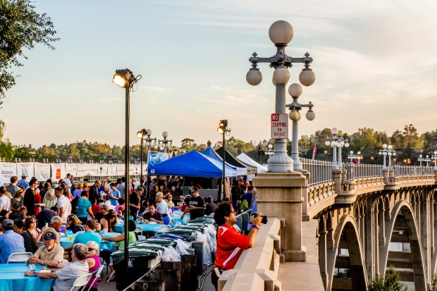 Pasadena Heritage is offering discount tickets for the Colorado Bridge Street Party. (Photo courtesy of Pasadena Heritage).