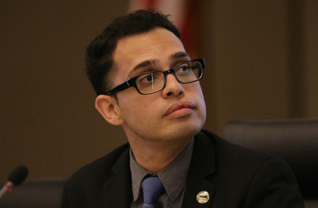 Moreno Valley Mayor Yxstian Gutierrez (File photo)