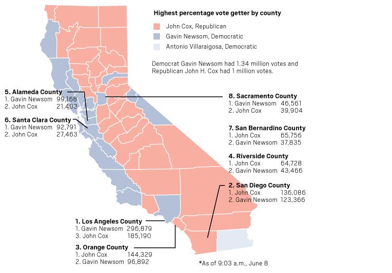 on california political map