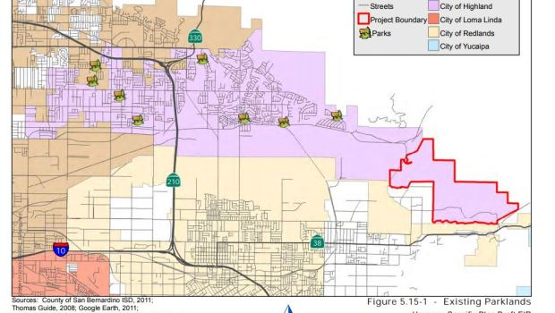 Map of Proposed Harmony Highlands Project