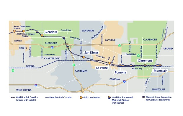 Building Gold Line to Pomona, maybe Claremont and Montclair