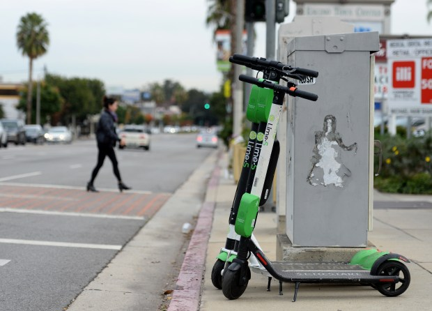 E-scooters have arrived in the San Fernando Valley. Will they sink or scoot?