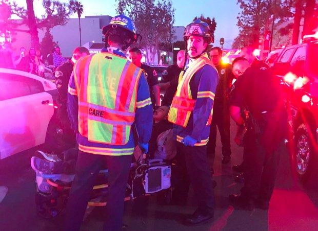 Vehicle Pursuit In Anaheim Ends In Crash At Strip Mall Orange
