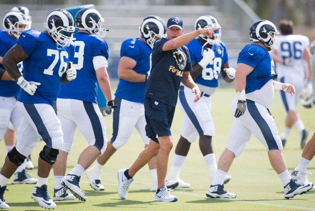 How Aaron Kromer has Rams offensive line surging at precisely the right time