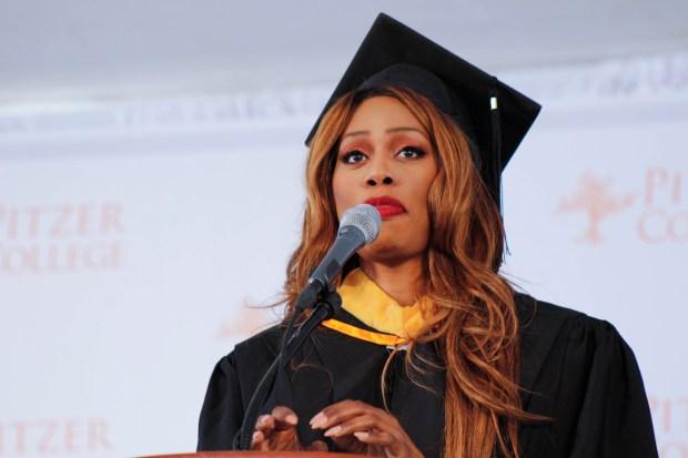 Laverne Cox's graduation speech at Pitzer reveals a recent revelation Twitter gave her