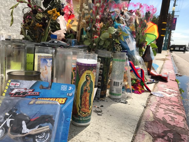 North Hollywood memorial grows in wake of motorcyclist's