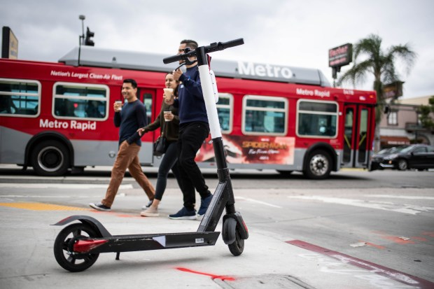LA looks to improve parking of dockless scooters and bikes. Here's how