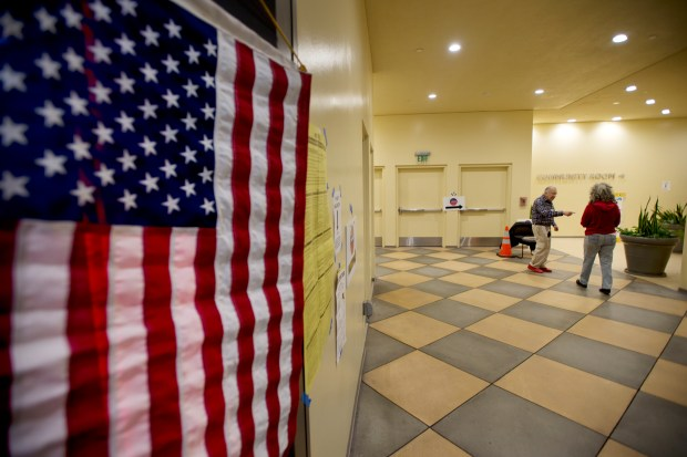 After glitch-marred opening day, L.A. County's new Vote Centers are getting some foot traffic