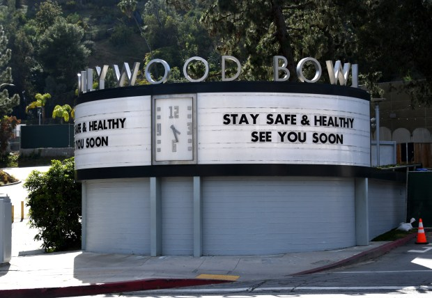 Hollywood Bowl cancels entire 2020 season due to coronavirus concerns