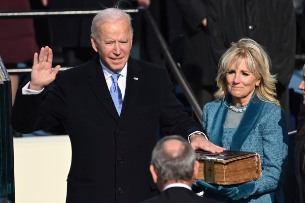 Latest on Inauguration: Biden says in first address as president 'Democracy has prevailed'