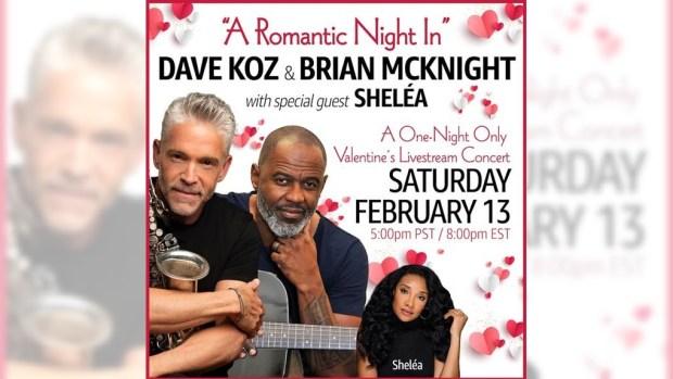 Dave Koz and Brian McKnight team up for Valentine's eve 'Romantic' livestream concert